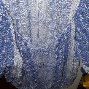 Flowy mandarin collar top. NEW LISTING🤗